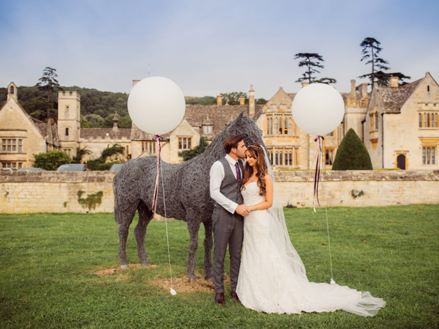 Natasha and Marcus celebrated their big day at Ellenborough Park. Image © Gemma Gaskins.