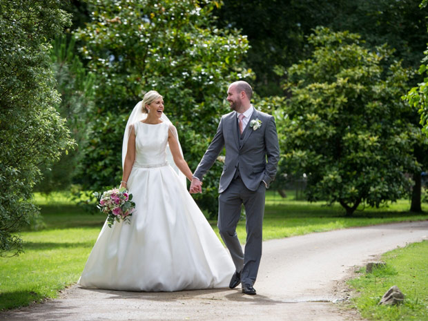 Nicola and Leon celebrated their summer marquee wedding at Frampton Court Estate.