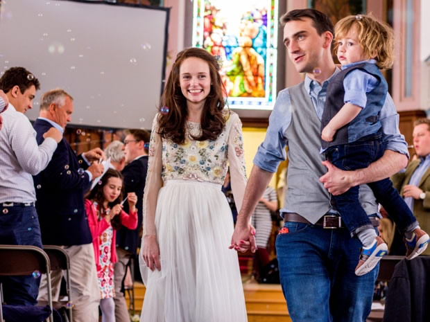 Saskia and James' two-year-old son Diggory was central to the couple's wedding celebrations.