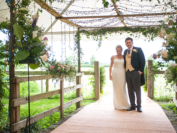 Mathew and Harriet enjoyed a marquee wedding in the Cotswold countryside. All images © Jonathan McGee Photography