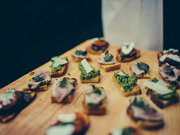 Couples can expect fresh, seasonal and deliciously modern dishes from the award-winning caterers.