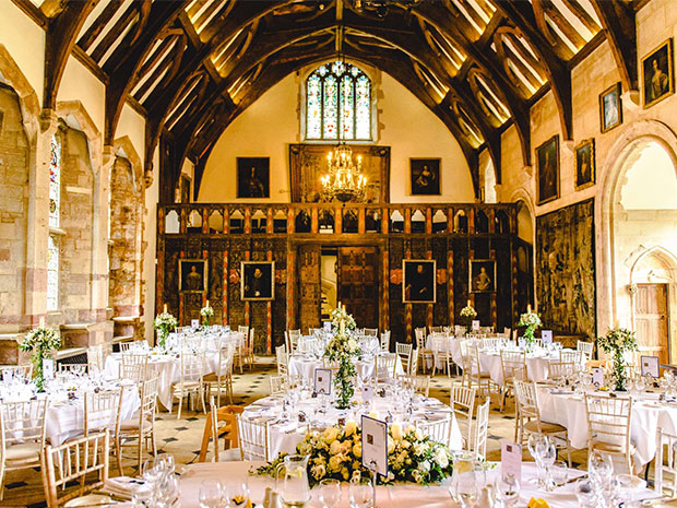 The stunning Great Hall provides a memorable space for hosting wedding breakfasts.