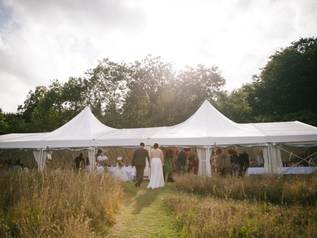 Bisely offers a selection of marquees, suitable for all wedding sizes. Image © Christy Blanch.