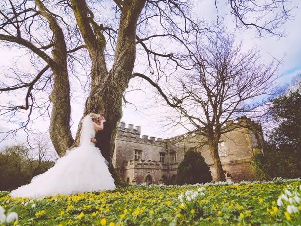 The castle's stunning grounds offer a beautiful backdrop for wedding photographs.