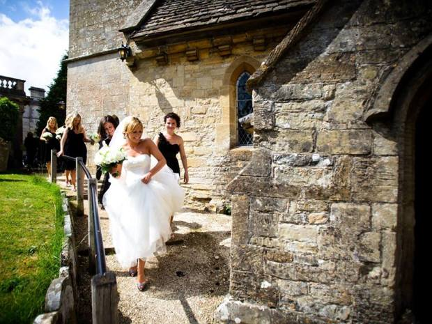 Couples can get married at St Mary's Church, situated on the grounds of Cowley Manor.