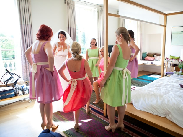 The hotel's spacious bedrooms offer plenty of space for the bridal party to get ready.