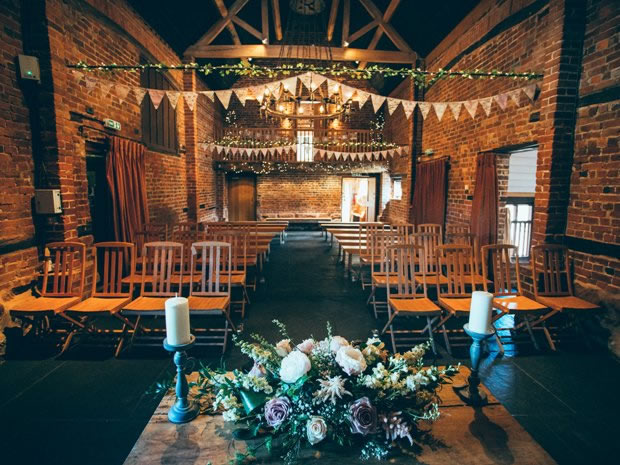 The Granary Bran offers an atmospheric setting for ceremonies. Image © Fairclough Photography.