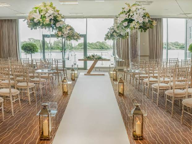 Get ready to walk down the aisle at De Vere Cotswold Water Park.
