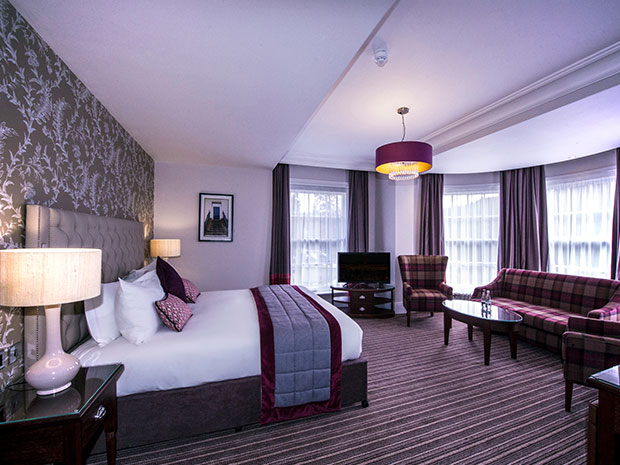 Wedding guests can extend their stay in the hotel's stylish bedrooms.