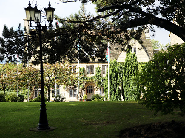 The elegant country house hotel is situated on the outskirts of Gloucester.