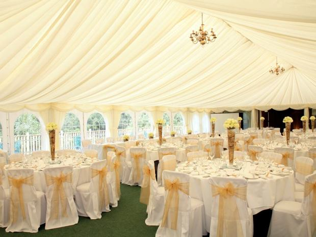 The versatile Garden Marquee space can welcome parties of up to 300 wedding guests.