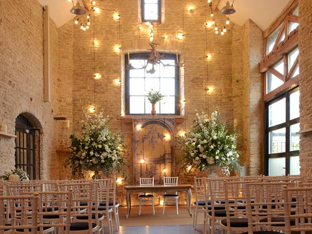 The Stone Barn provides a beautiful setting for hosting elegant wedding ceremonies.