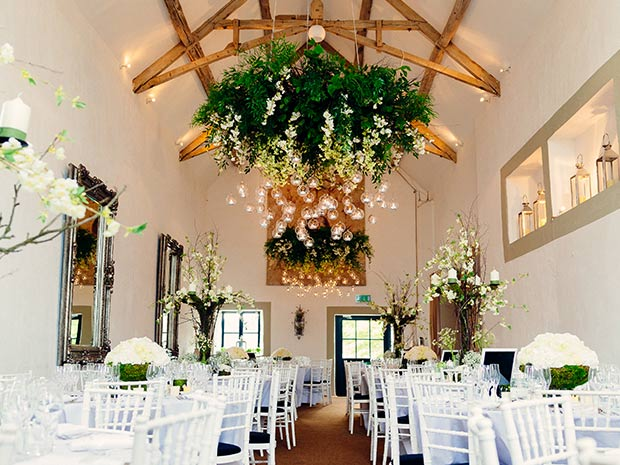 Merriscourt's White Barn offers a picture-perfect space for wedding breakfasts.