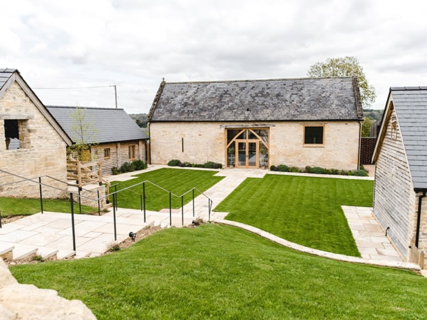 The beautifully refurbished barn offers ample space to welcome wedding parties.
