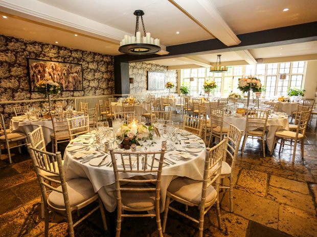 The venue's cosy yet elegant country feel makes a lovely backdrop for weddings.